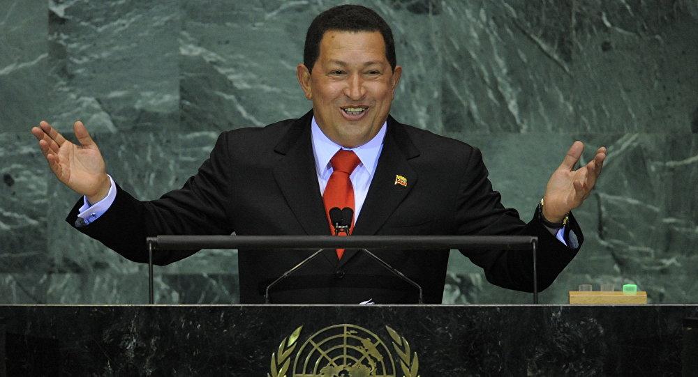 Presidente da Venezuela Hugo Chávez na Assembleia Geral da ONU em 2009
