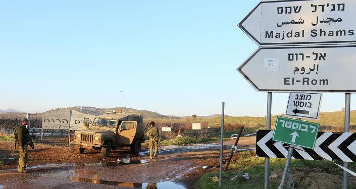 Militares israelenses sobre as Colinas de Golã
