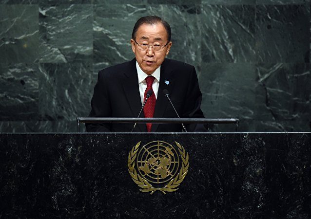 Ban Ki-moon abrindo a 70ª sessão da Assembleia Geral da ONU