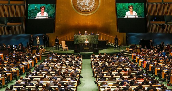 Presidenta Dilma Rousseff fala na abertura da 70ª Assembléia Geral da ONU.