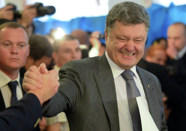 Petro Poroshenko, Ukrainian presidential candidate, takes part in the early presidential election at a polling station in Kiev.