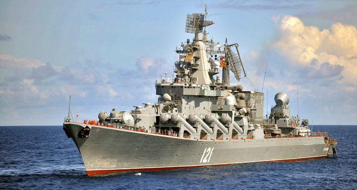 Cruzador de mísseis Moskva, navio principal da Frota do mar Negro da Rússia