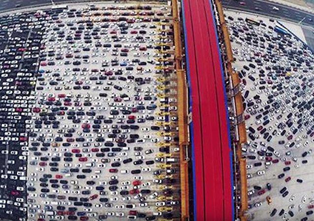 Engarrafamento de trânsito na China, Pequim