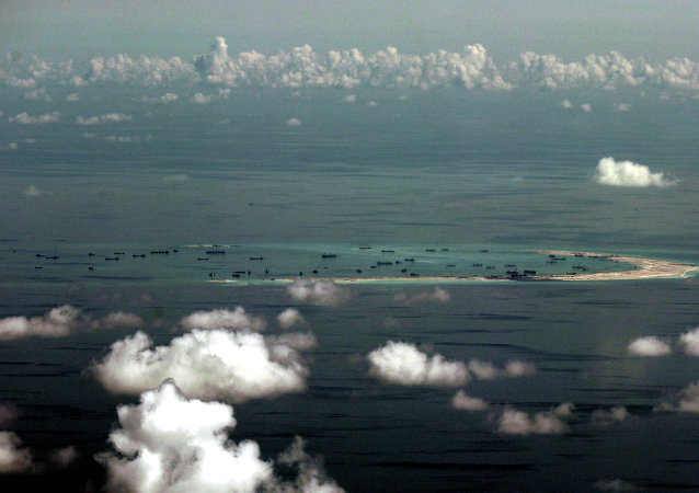 Ilhas Spratly no mar da China Meridional
