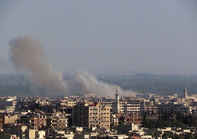 Ações militares perto de Damasco (arquivo)