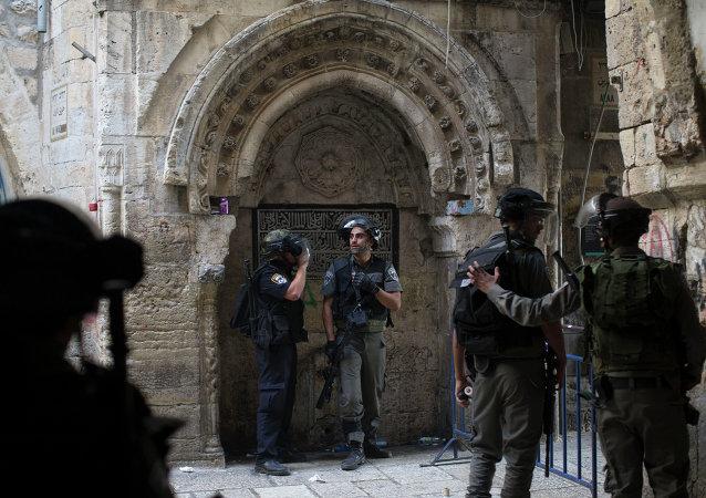 Polícia israelense na Cidade Velha de Jerusalém (arquivo)