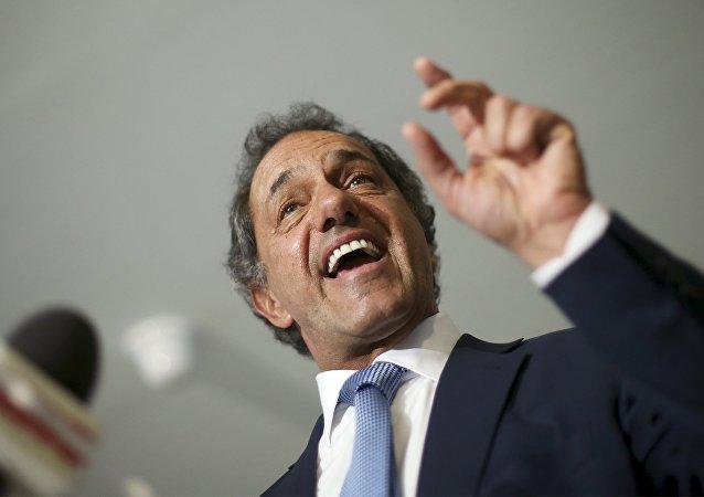 Daniel Scioli, candidato da Frente para a Vitória nas eleições argentinas.