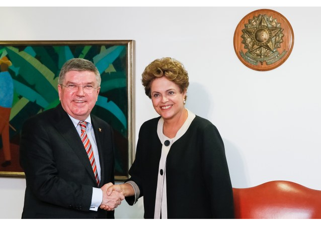 Presidenta Dilma Rousseff se encontra com o presidente do COI, Thomas Bach