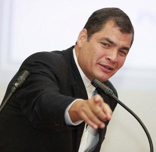 Presidente do Equador Rafael Correa