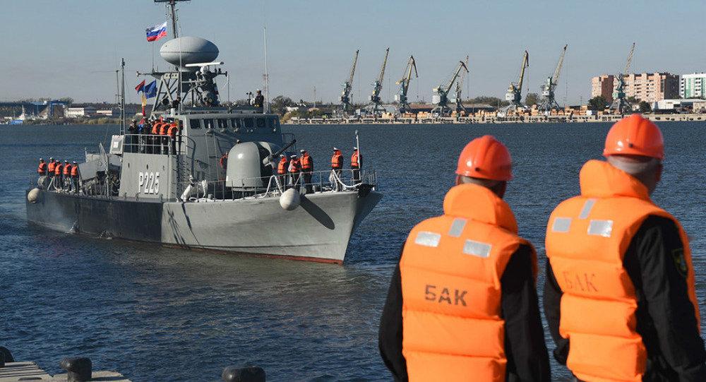Navios iranianos em Astrakhan