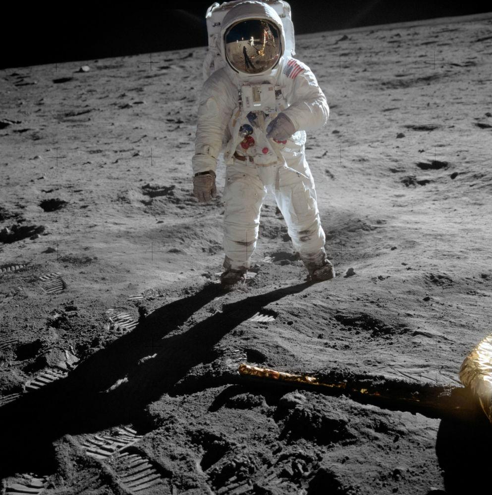 Astronauta norte-americano Buzz Aldrin na Lua