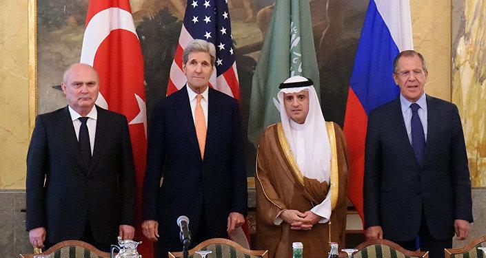 Reunião entre os chanceleres de Rússia, Turquia, EUA e Arábia Saudita