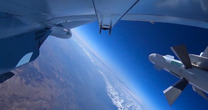 Jato da Força Aeroespacial russa durante missão de combate na Síria