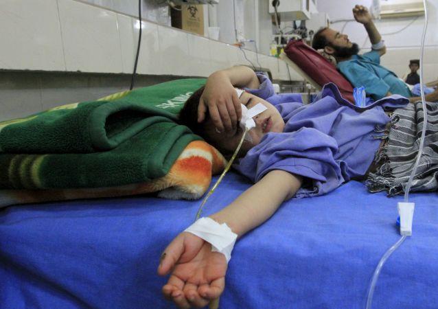 Feridos depois do terremoto no Afeganistão