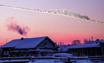 Reconstrução da queda do meteorito que atingiu a cidade russa de Chelyabinsk em 15 de fevereiro de 2013
