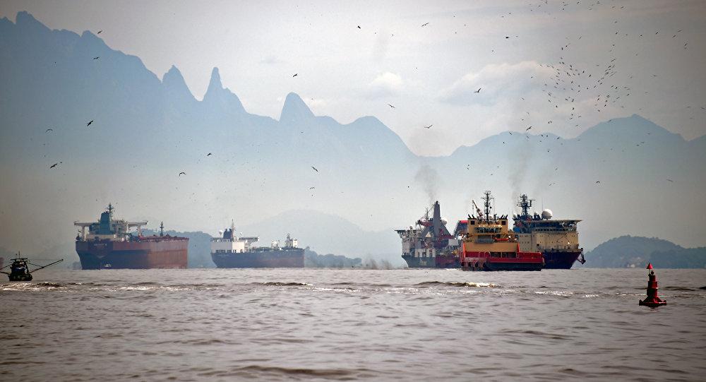 A baía de Guanabara, Rio de Janeiro
