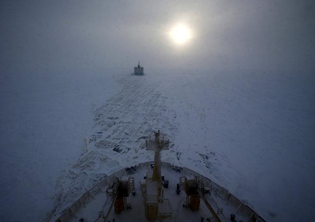 Ártico. Distrito Autônomo de Iamalo-Nenets, na Rússia.