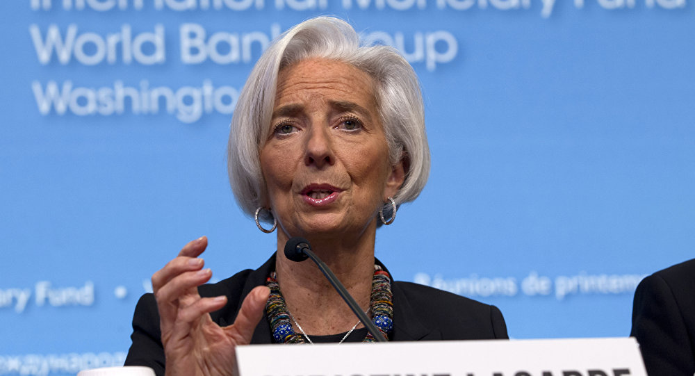 Presidente do FMI Christine Lagarde
