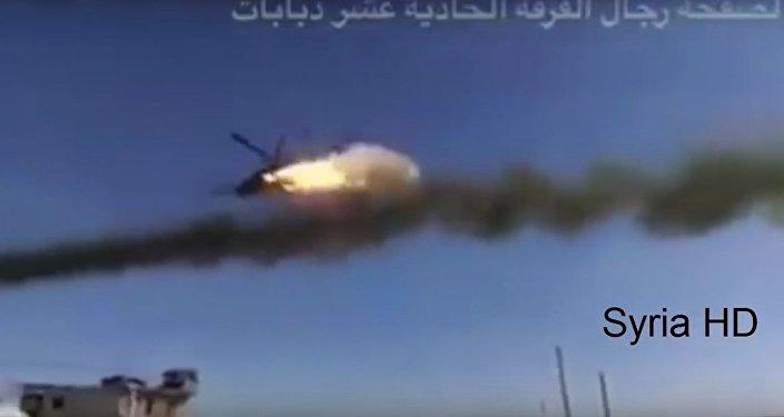 Ataques aéreos dos helicópteros russos Mi-24 na Síria