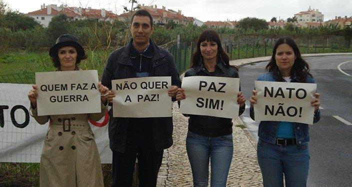 Manifestação contra OTAN em Portugal