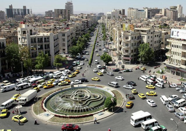 Visão aérea de Damasco, Síria