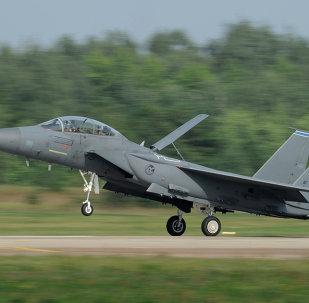 Caça americano US F-15 Strike Eagle