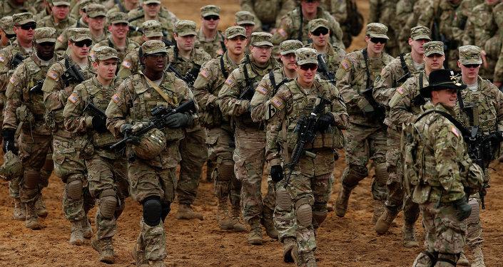 Exército americano em exercício militar na Lituânia