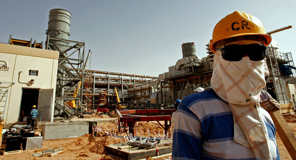 Usina de processamento de petróleo de  Al-Khurais, da Saudi Aramco, na Arábia Saudita
