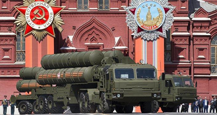 Sistemas russos de DAM S-400 durante a Parada da Vitória, 9 de maio, 2015
