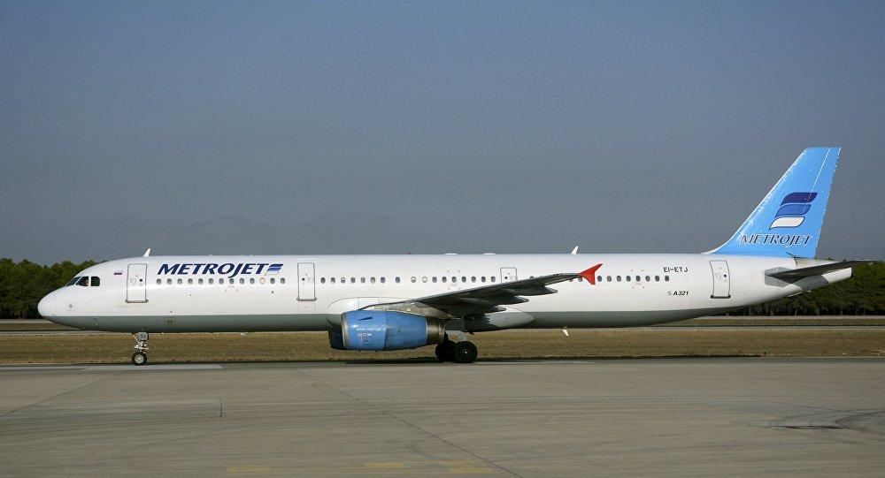 Airbus A321 da companhia russa Kogalymavia (Metrojet), que caiu na Península do Sinai