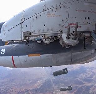 Aeronave russa em missão para destruir alvos do Estado Islâmico na Síria