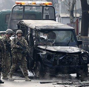 Uma forte explosão atinge o bairro diplomático de Cabul (imagem referencial)
