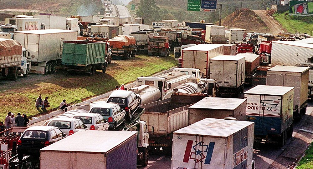Greve dos caminhoneiros, Brasil (imagem de arquivo)