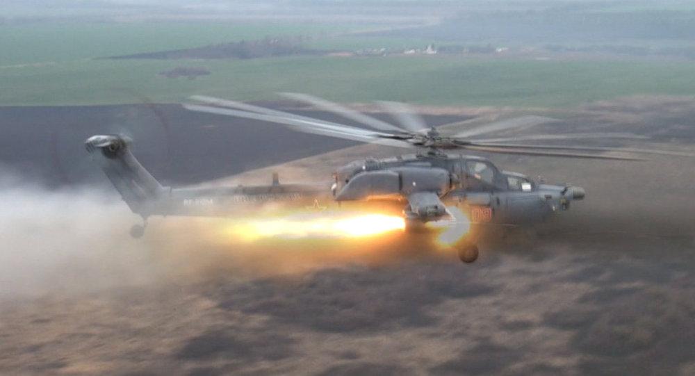 Helicóptero russo Mi-8AMTSh-VA Terminator