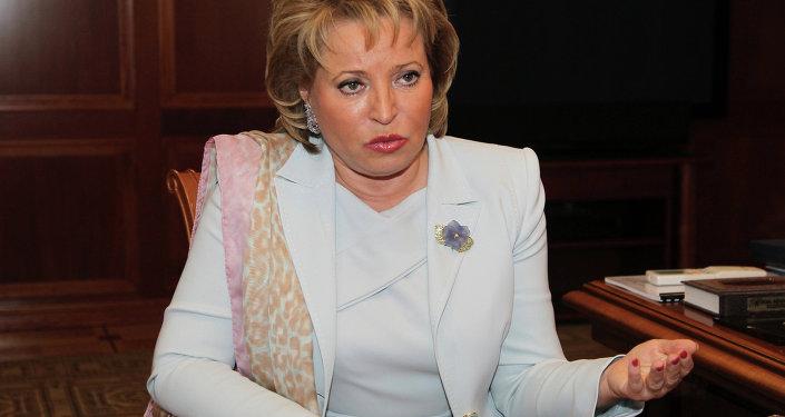 Valentina Matvienko, presidente do Conselho da Federação da Rússia