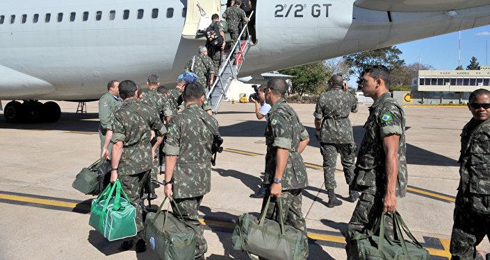 Militares brasileiros em Missão de Paz da ONU