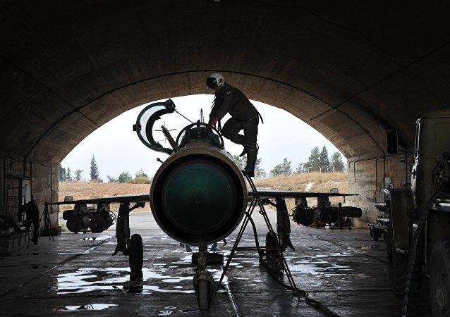 Base aérea militar de Hama, na Síria
