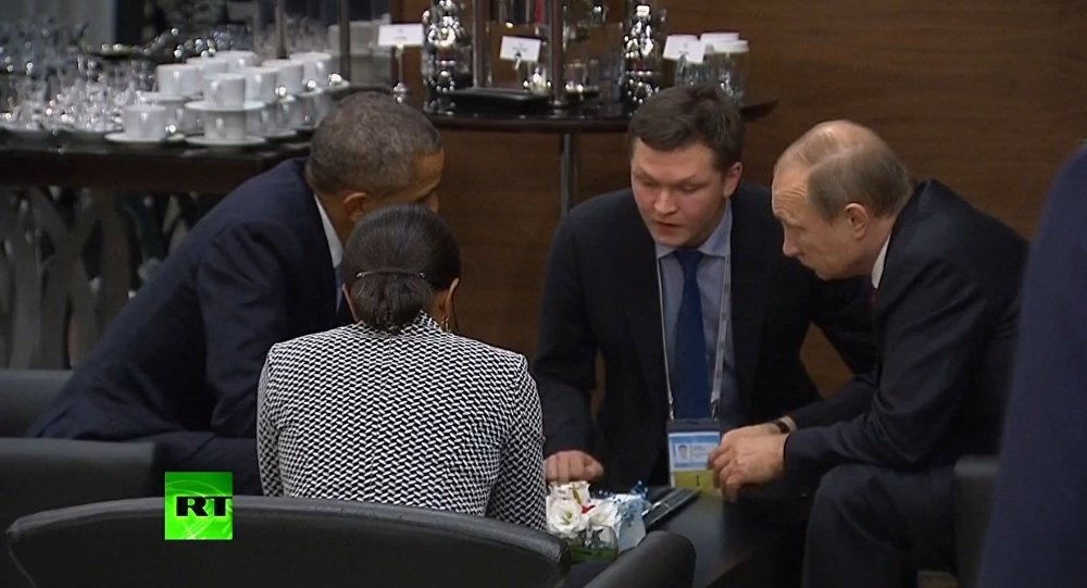 Putin e Obama têm uma conversa durante a cúpula do G20