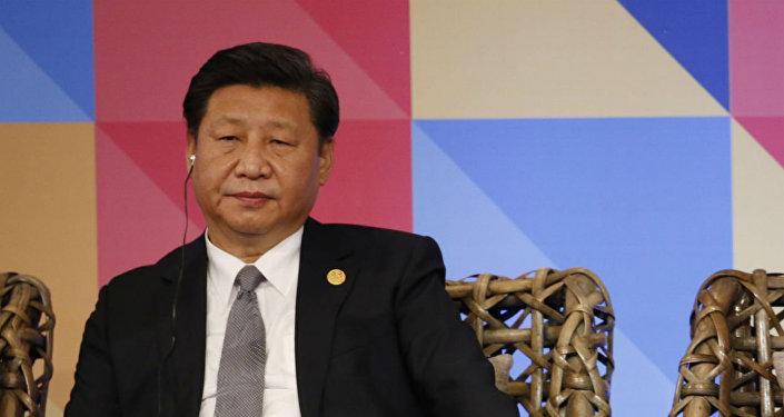 Xi Jinping, durante a 23ª Cúpula da APEC.
