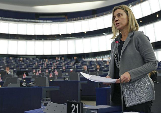 Chefe de política externa da UE, Federica Mogherini