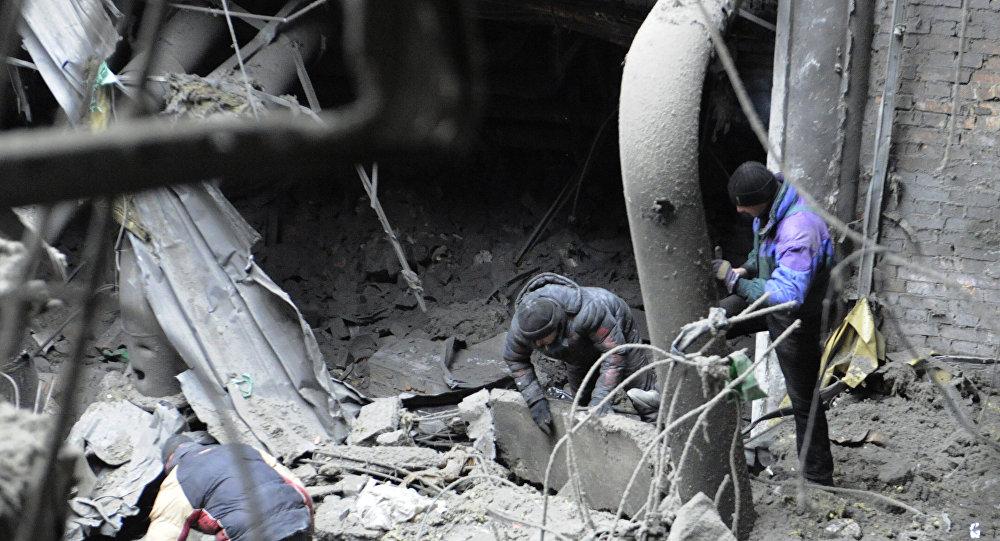 Remoção de escombros do aeroporto de Donetsk
