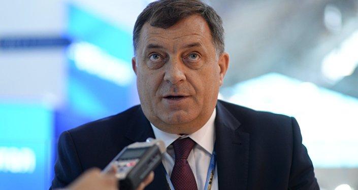 Presidente da República Sérvia (uma entidade no território da Bósnia e Herzegovina) Milorad Dodik