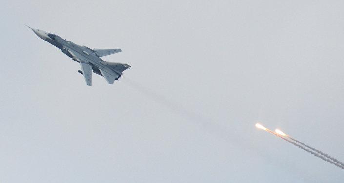 A Su-24 bomber aircraft