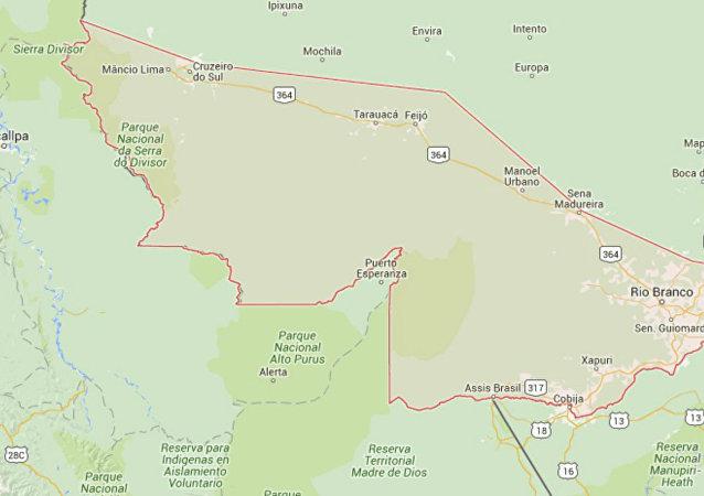 Mapa do Acre.
