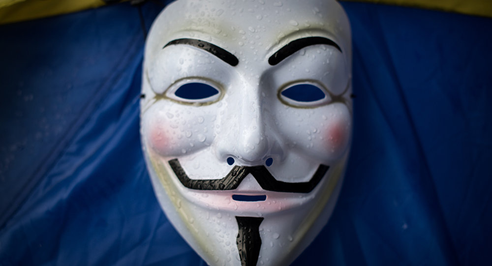 Máscara de Guy Fawkes, símbolo do grupo de hackers Anonymous