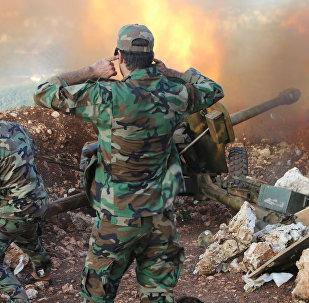 Exército sírio na província de Latakia