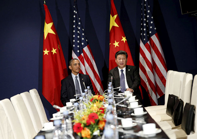 Barack Obama e Xi Jinping, em Paris.