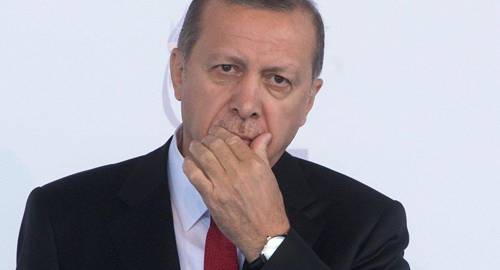 Presidente turco, Recep Tayyip Erdogan, durante cúpula do G20 em 15 de novembro na Turquia