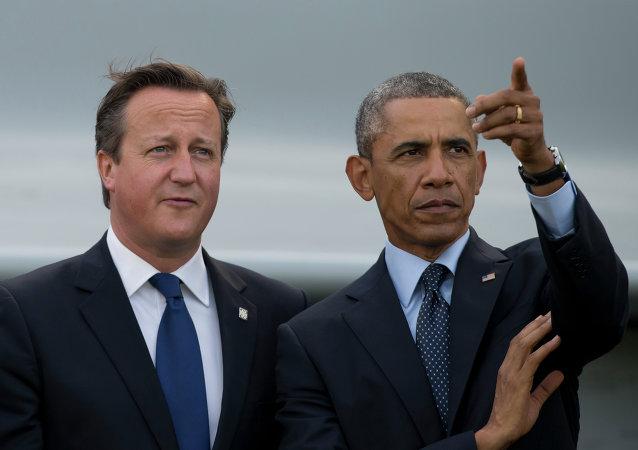 Presidente dos EUA, Barack Obama e o primeiro-ministro britânico David Cameron