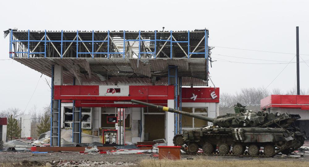 Tanque ucraniano em Debaltsevo